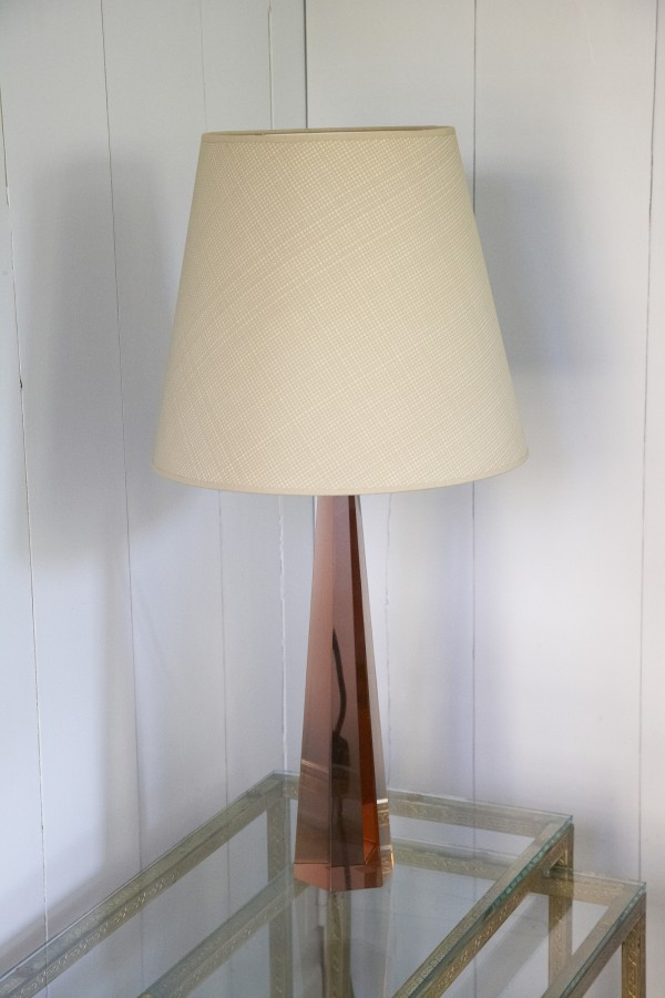 Caramel dogtooth lampshade from Rita Konig