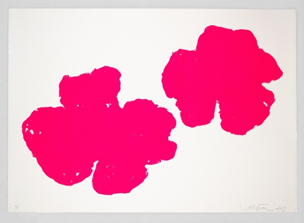 Two Flowers screenprint by Sam McEwan from Rita Konig