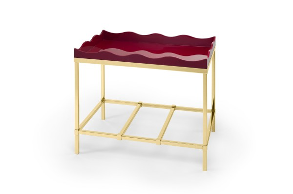 Belles Rives Side Table Bordeaux Red