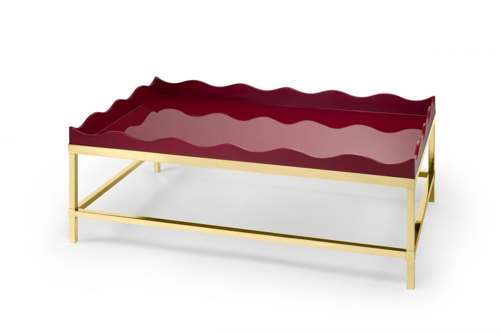 Bordeaux Red Belles Rives Coffee Table