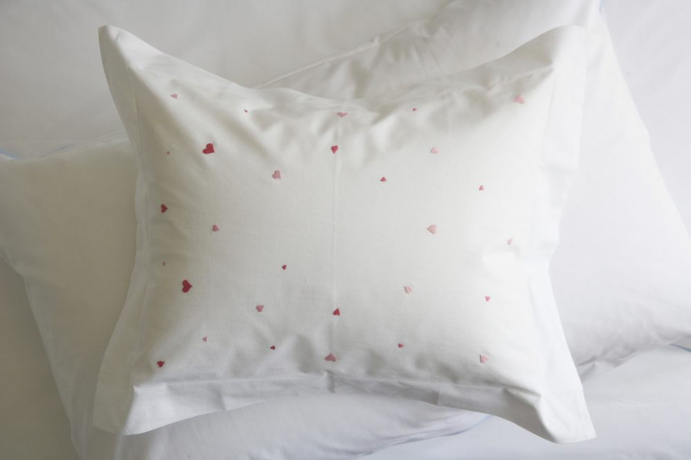 Hearts baby pillow