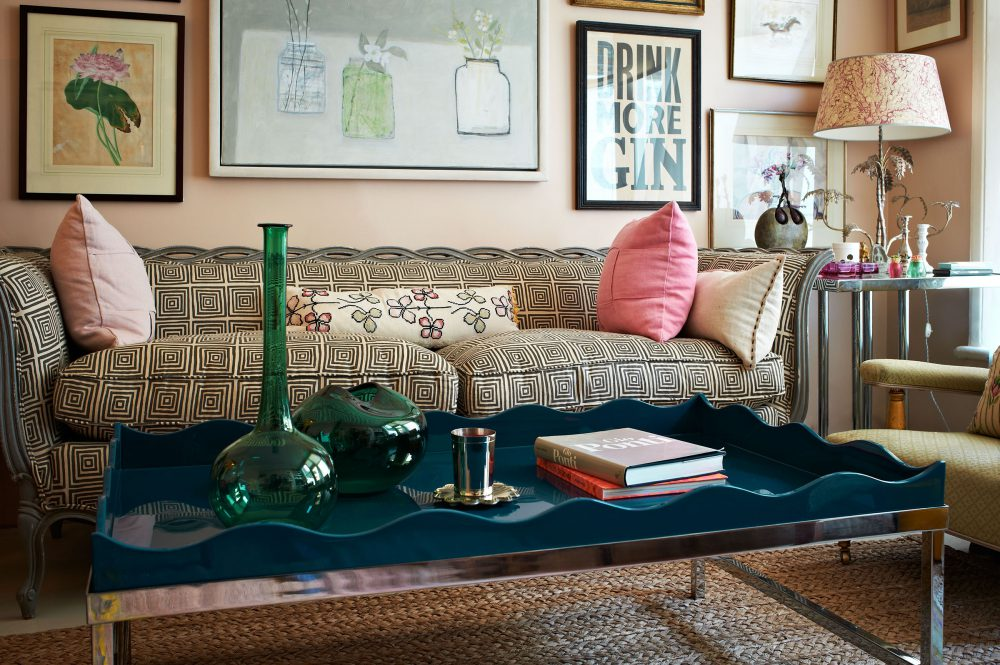 Marine Blue Belles Rives Coffee Table