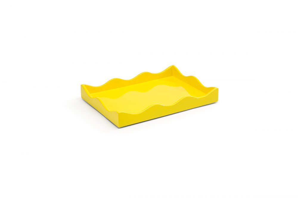 Small Belles Rives Tray Citron Yellow