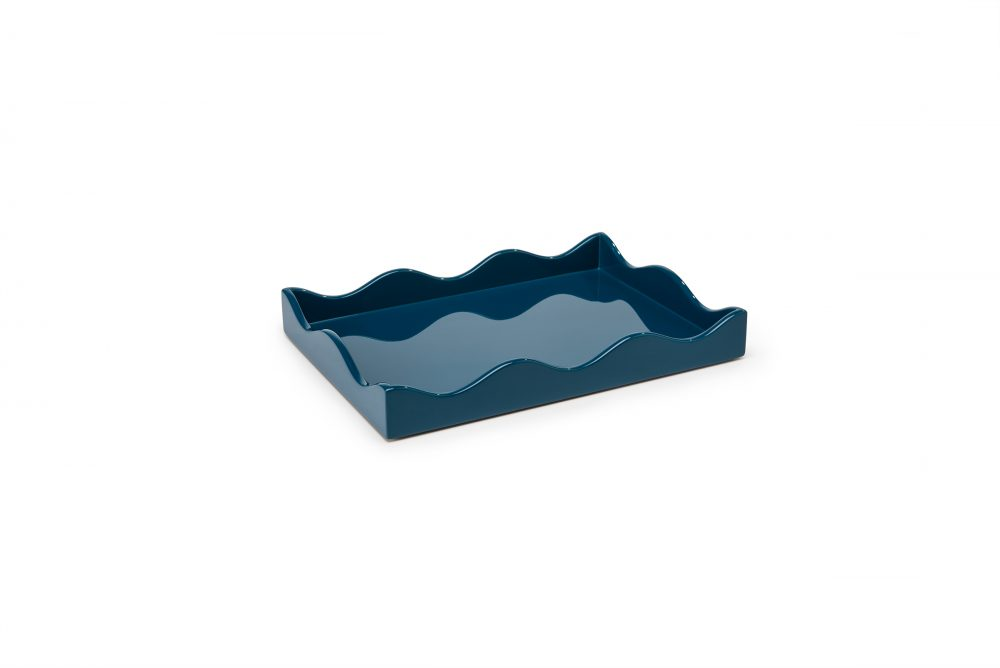 Small Belles Rives Tray Marine Blue