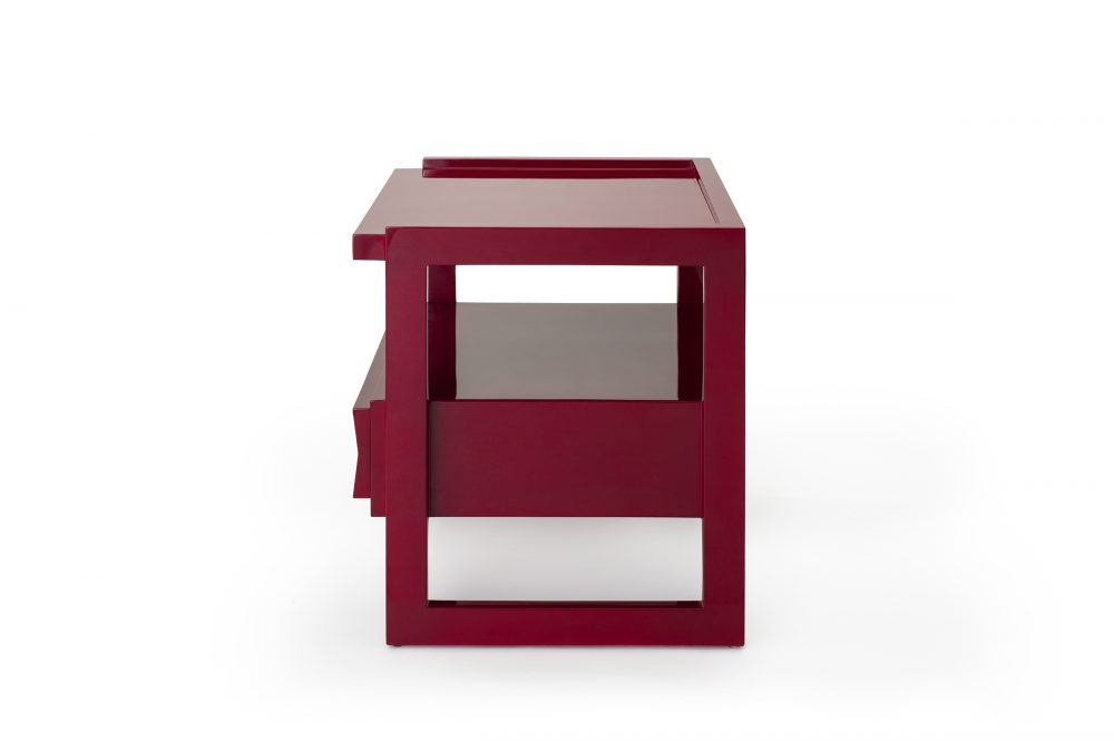 Bordeaux Red Hudson Nightstand