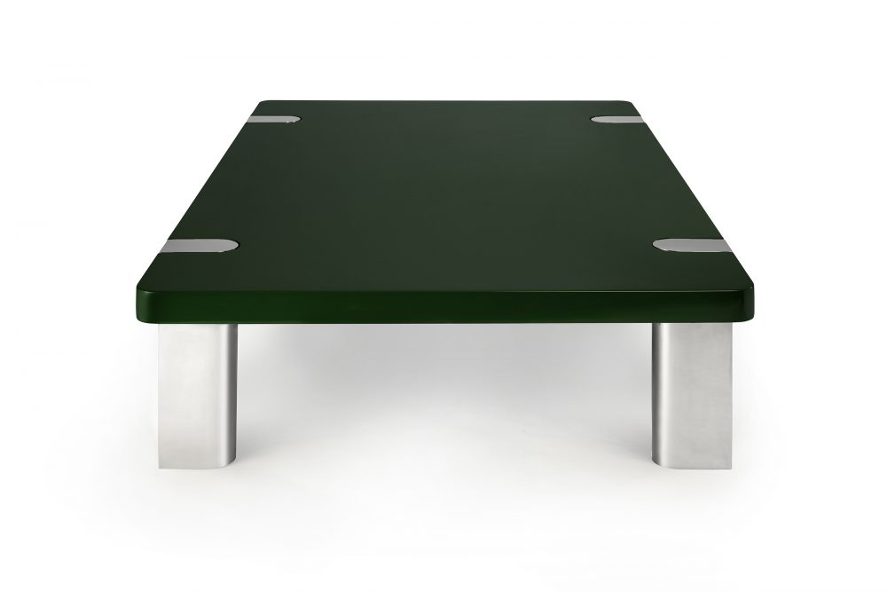 Chapman Coffee Table Bottle Green Nickel
