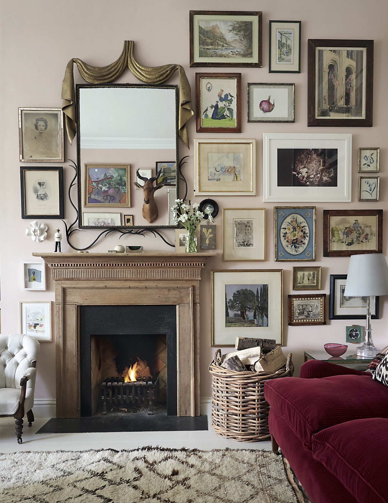 House garden march 2016 rita konig - Small living rooms with fireplaces ...