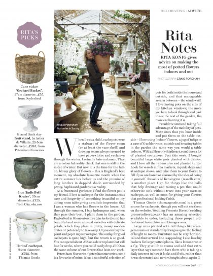 Rita Konig House and Garden magazine May 2017